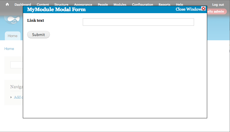 Labs | Insert a form into a pop-up modal with CTools and