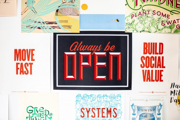 always be open graphic image