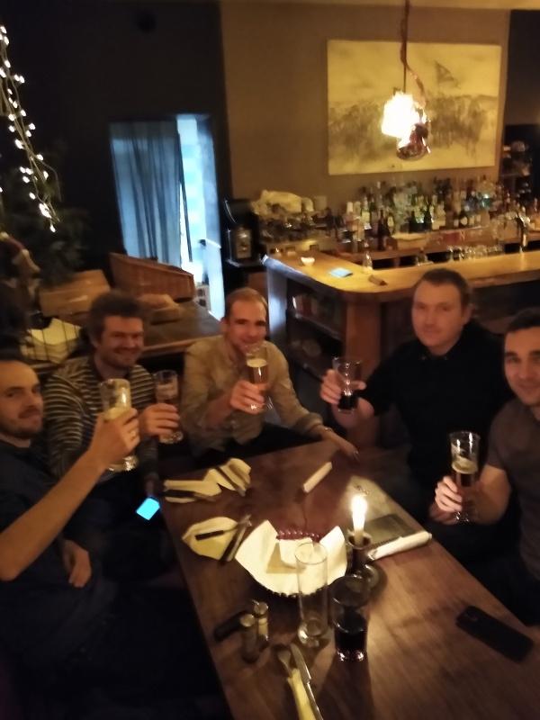 Deeson development team drinking beer in Berlin 2019