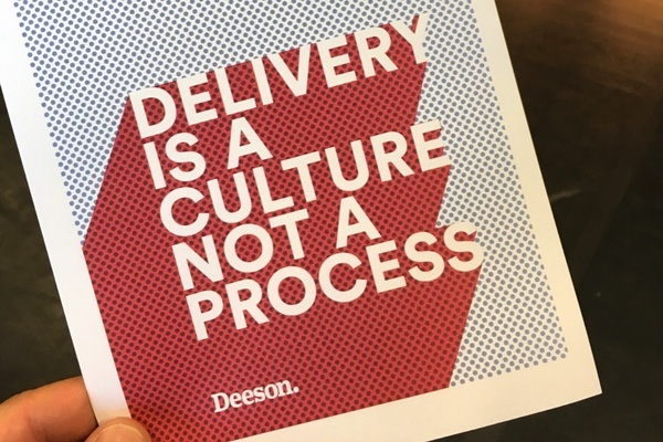 Delivery is a culture not a process flyer