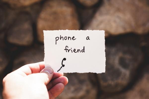 Phone a friend :)