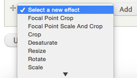 Focal point image style select