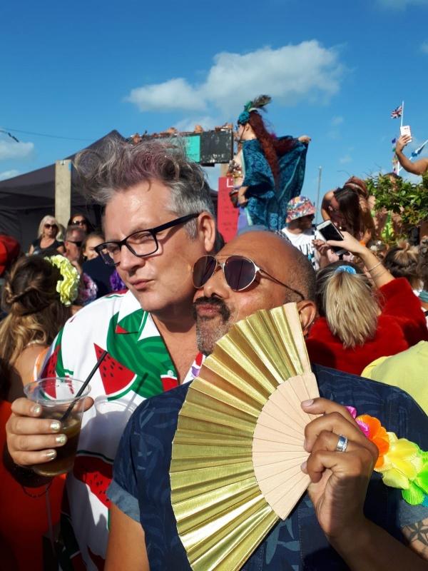 Richard and husband at pride