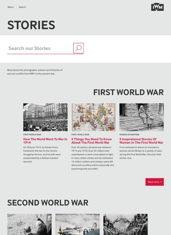 Imperial War Museum Website