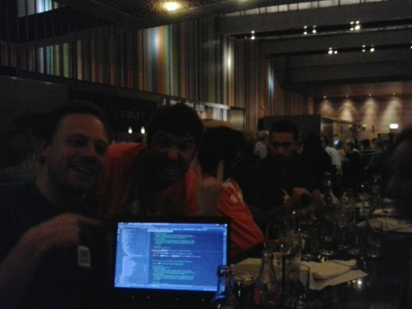 High brow PHP Storm discussion at mentor dinner after DrupalCon Amsterdam 2014