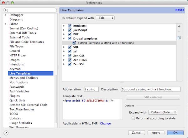 PHPStorm templates