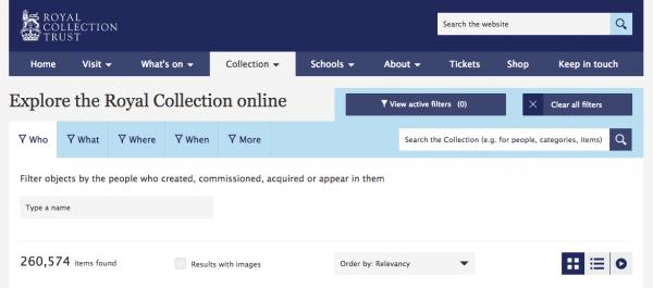 Royal Collection Trust screenshot