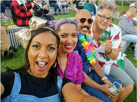 Richard and friends at Margate Pride