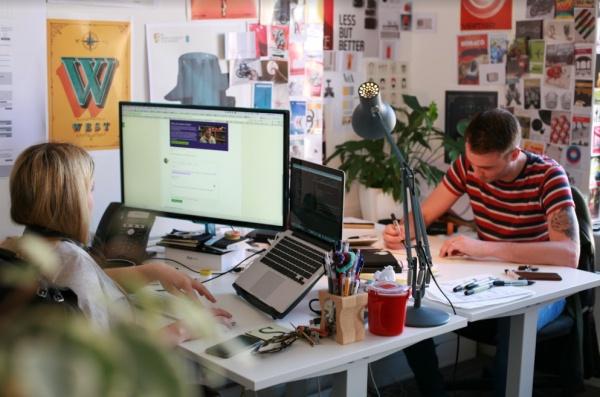 Deeson team members at desks