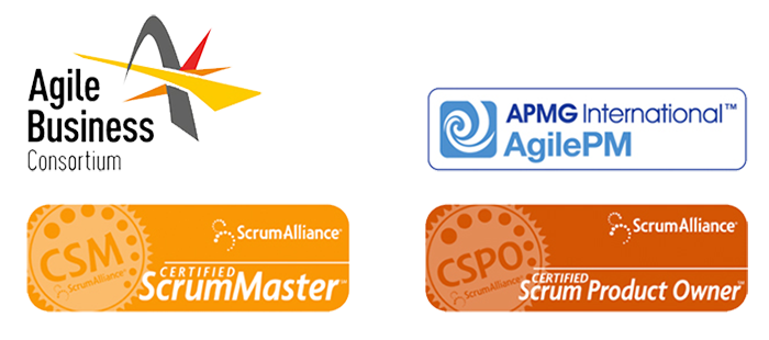 agile accreditation logos