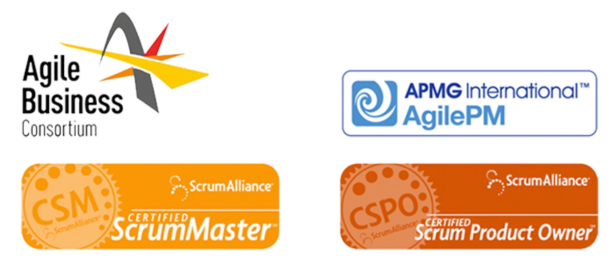 Agile accreditations stacked
